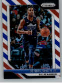 2018-19 Panini Prizm Red White Blue Starburst Refractor #260 Dennis Smith Jr. Dallas Mavericks Official NBA Basketball T