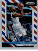 2018-19 Panini Prizm Red White Blue Starburst Refractor #298 Kemba Walker Charlotte Hornets Official NBA Basketball Trad