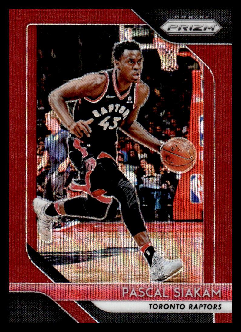 2018-19 Panini Prizm Ruby Red Wave Refractor #83 Pascal Siakam Toronto Raptors Official NBA Basketball Trading Card
