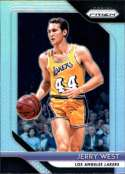 2018-19 Panini Prizm SILVER Refractor #145 Jerry West Los Angeles Lakers Official NBA Basketball Trading Card