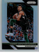 2018-19 Panini Prizm SILVER Refractor #296 Giannis Antetokounmpo Milwaukee Bucks Official NBA Basketball Trading Card