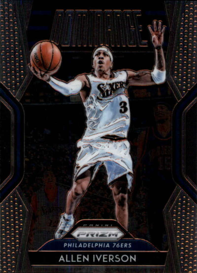2018-19 Panini Prizm Dominance #19 Allen Iverson NM-MT Philadelphia 76ers Official NBA Basketball Card