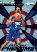 2018-19 Panini Prizm Freshman Phenoms SILVER Refractor #15 Shai Gilgeous-Alexander Los Angeles Clippers  Official NBA Basketball Trading Card