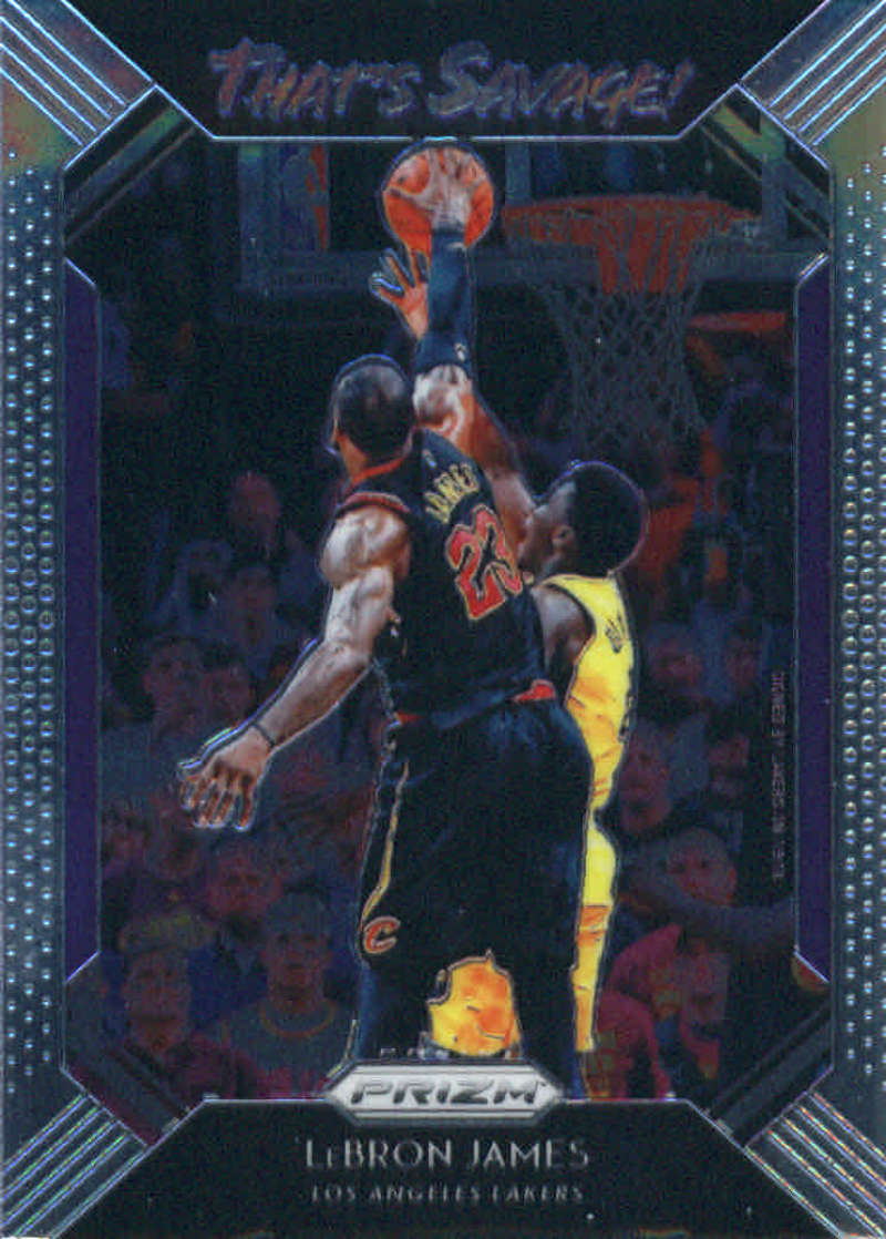 2018-19 Prizm That's Savage! Basketball #2 LeBron James Los Angeles Lakers Official NBA Trading Card From Panini