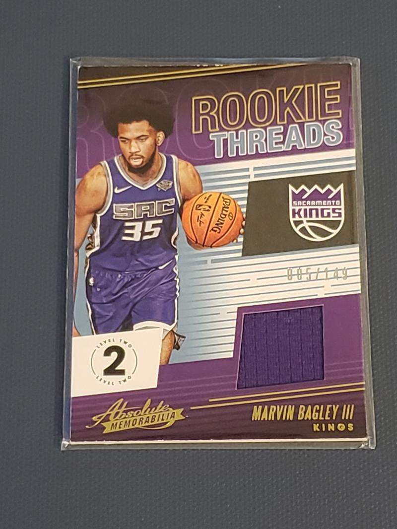 2018-19 Panini Absolute Rookie Threads Level 2