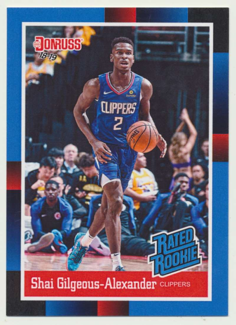 2018-19 Panini Instant NBA 1988 Rated Rookie Retro #RR11 Shai Gilgeous-Alexander RC Rookie Los Angeles Clippers