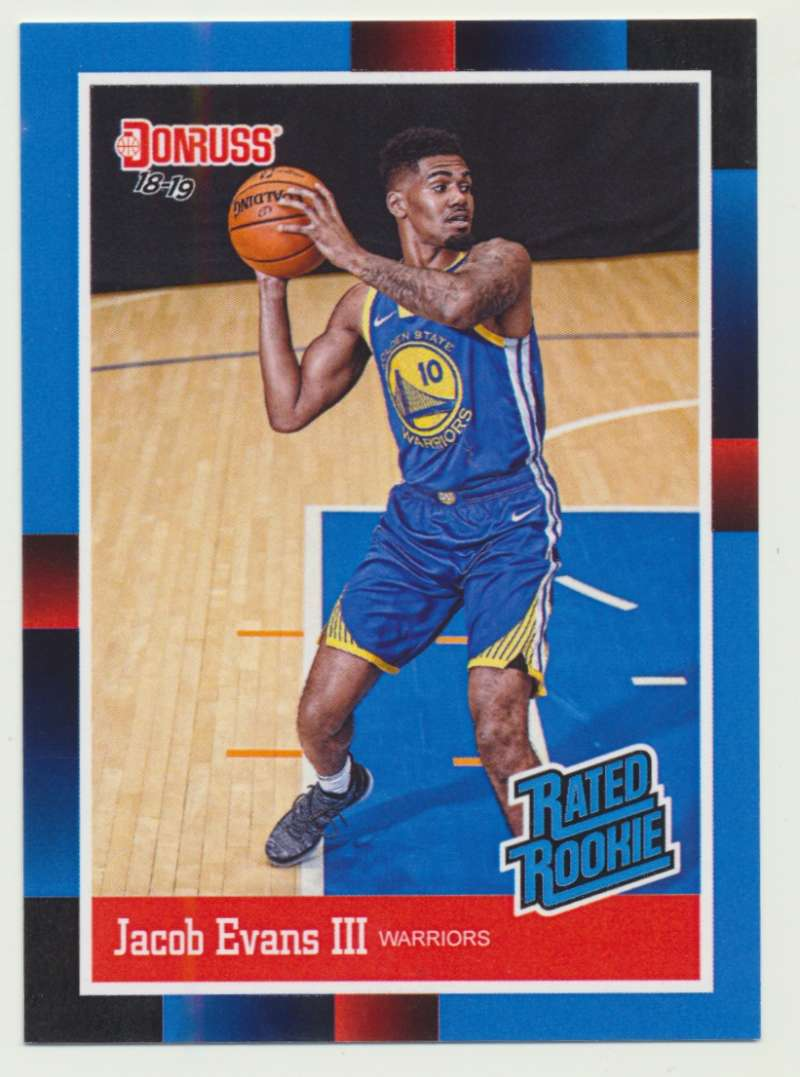 2018-19 Panini Instant NBA 1988 Rated Rookie Retro #RR26 Jacob Evans III RC Rookie Golden State Warriors