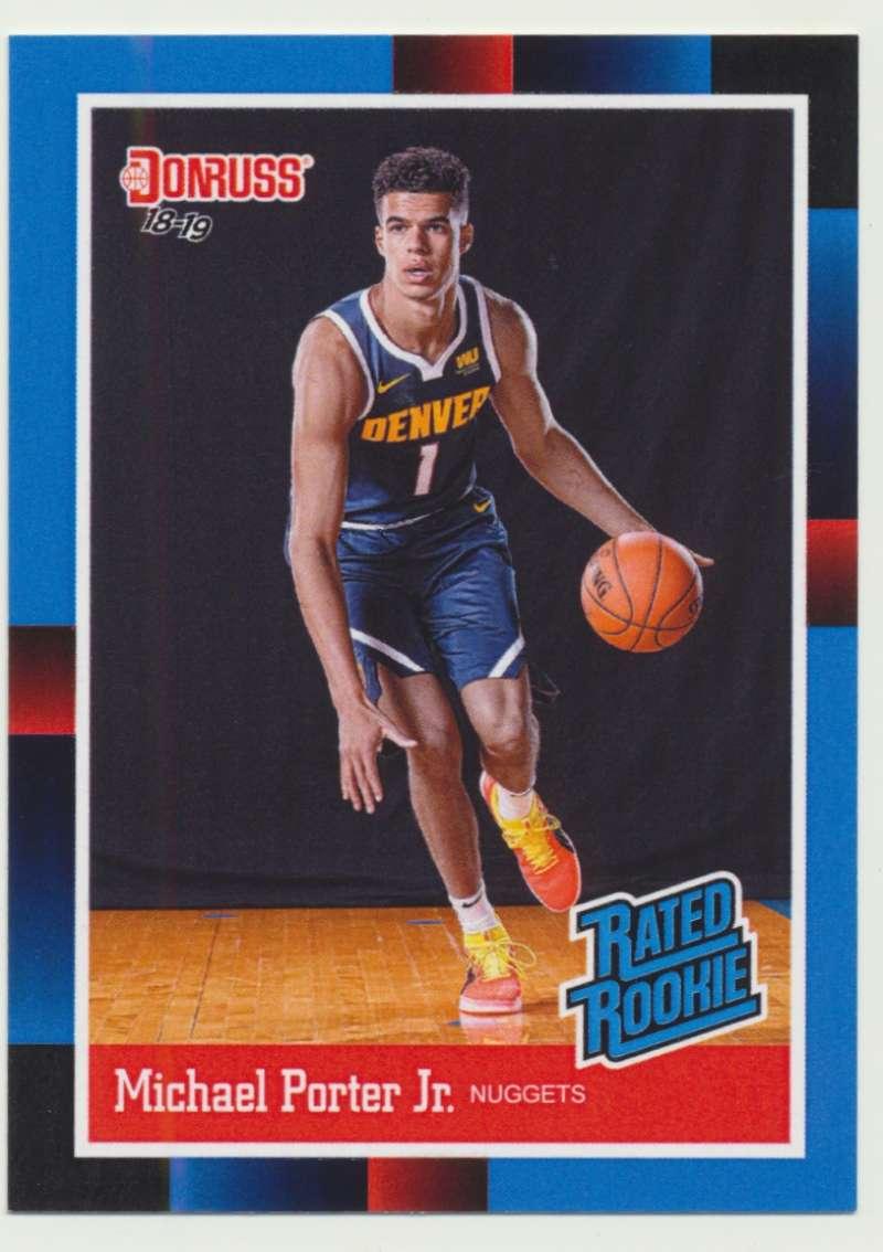 2018-19 Panini Instant NBA 1988 Rated Rookie Retro #RR40 Michael Porter Jr RC Rookie Denver Nuggets