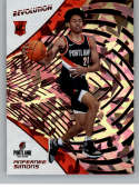 2018-19 Revolution Chinese New Year Red Parallel #137 Anfernee Simons Portland Trail Blazers Rookie  Panini NBA Basketball Card