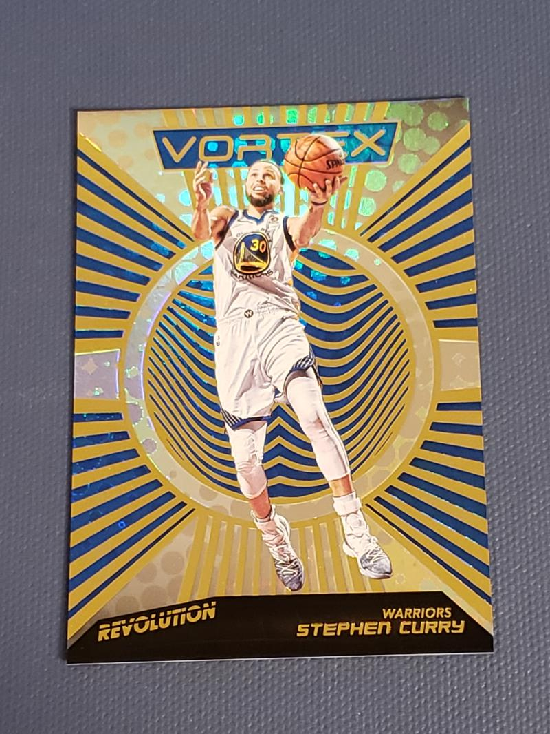 2018-19 Revolution Vortex Basketball #33 Stephen Curry Golden State Warriors  Official NBA Trading Card By Panini
