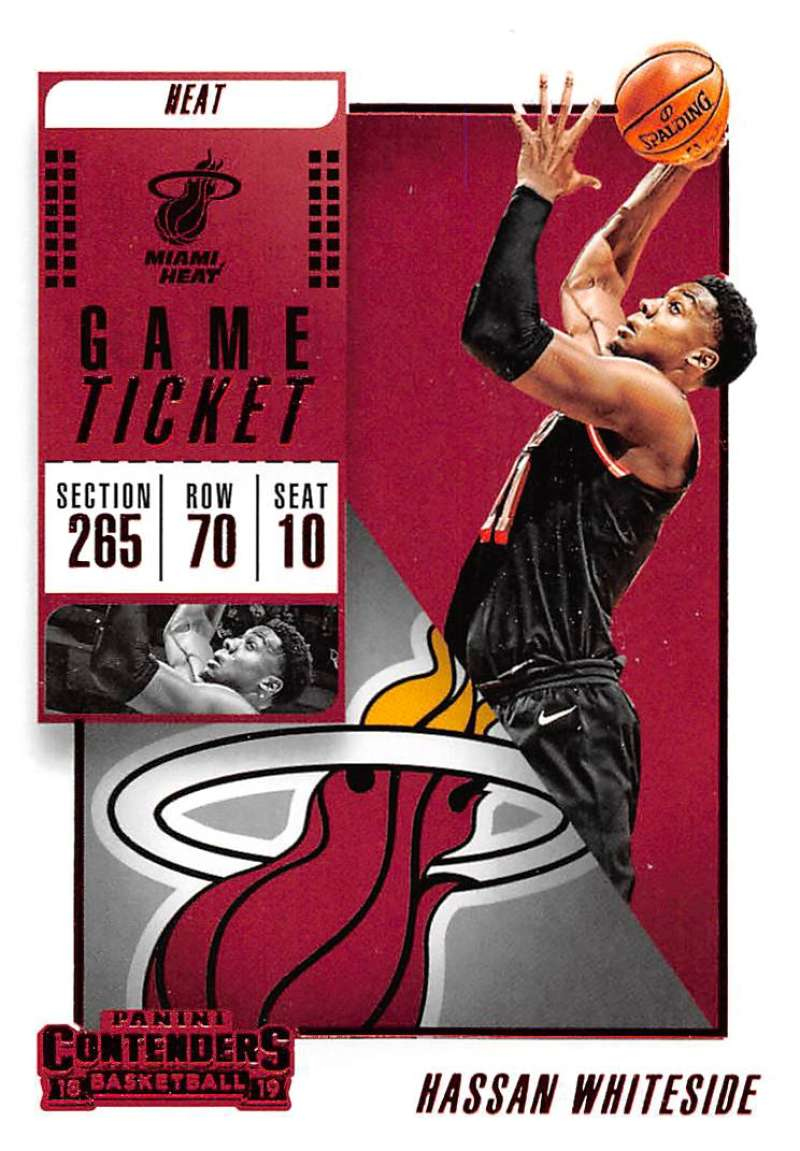 2018-19 Panini Contenders Game Ticket Red