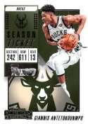 2018-19 Panini Contenders Season Ticket #11 Giannis Antetokounmpo NM-MT Milwaukee Bucks  Official NBA Basketball Card