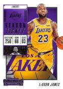 2018-19 Panini Contenders Season Ticket #30 LeBron James NM-MT Los Angeles Lakers  Official NBA Basketball Card