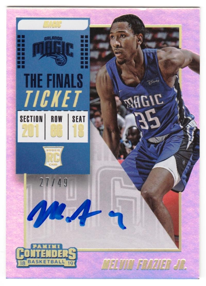 2018-19 Panini Contenders The Finals Ticket