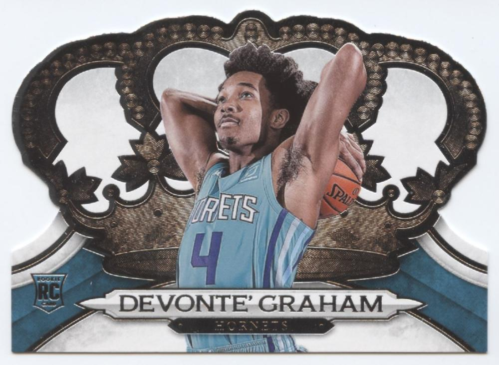 2018-19 Crown Royale Basketball #111 Devonte' Graham Charlotte Hornets  RC Rookie Card