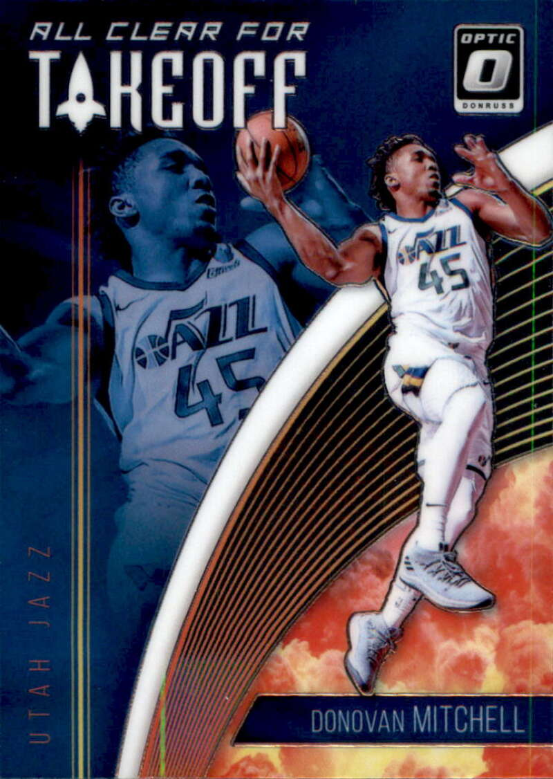 2018-19 Donruss Optic All Clear for Takeoff #12 Donovan Mitchell Utah Jazz
