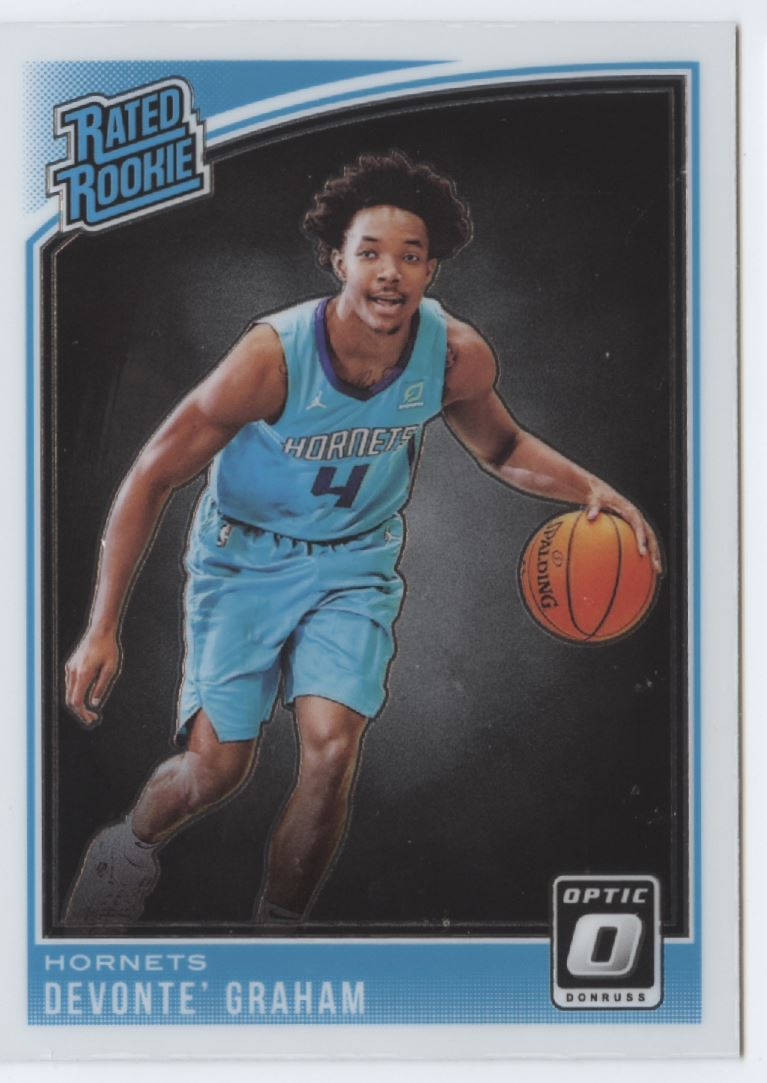 2018-19 Donruss Optic Basketball #189 Devonte' Graham RC Charlotte Hornets Rated Rookie