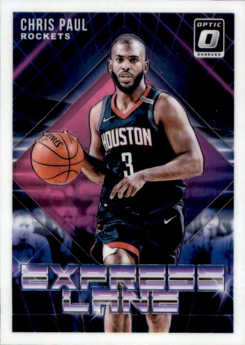 2018-19 Donruss Optic Express Lane #10 Chris Paul Houston Rockets  NBA Basketball Trading Card