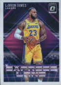 2018-19 Donruss Optic Express Lane Basketball #4 LeBron James Los Angeles Lakers  Official NBA Trading Card From Panini