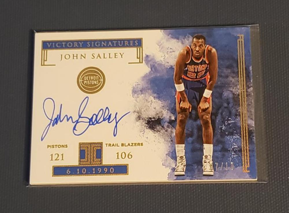 2018-19 Panini Impeccable Victory Signatures Holo Gold