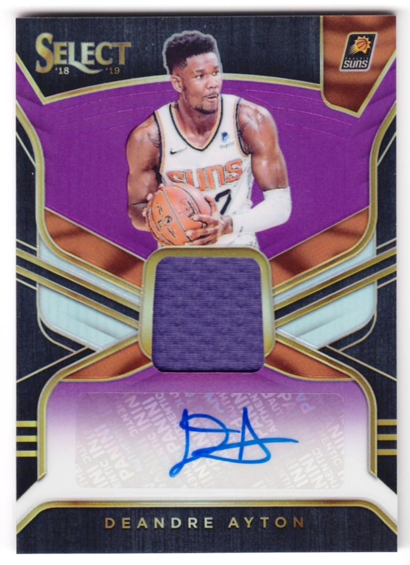 2018-19 Panini Select Rookie Jersey Autographs Purple