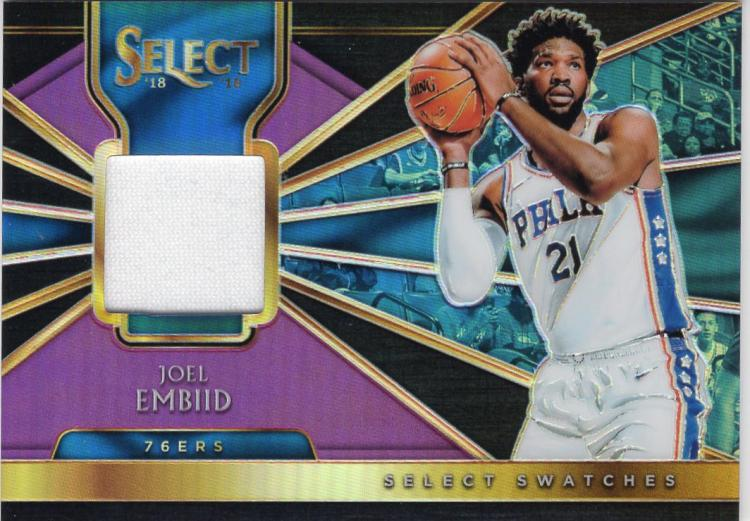 2018-19 Panini Select Select Swatches Purple Prizms