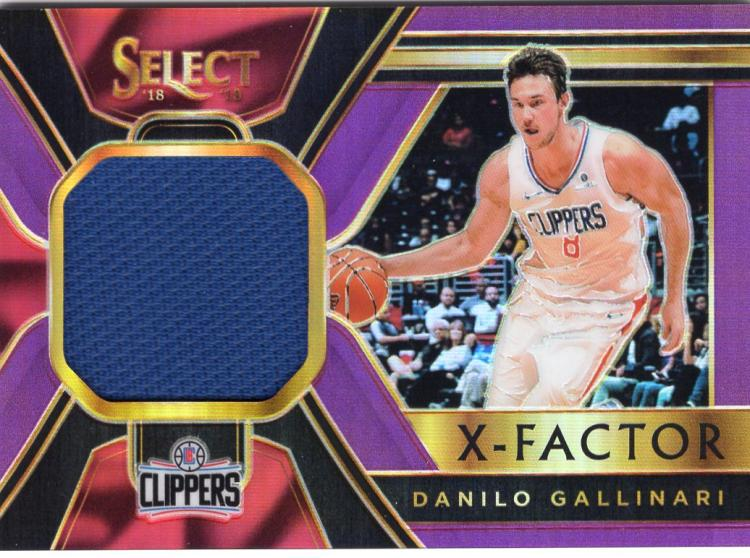 2018-19 Panini Select X-Factor Memorabilia Purple Prizms