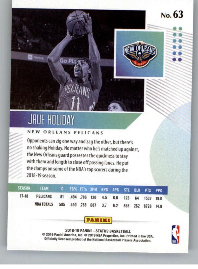 2018-19-Panini-Status-NBA-Basketball-Green-Parallel-Singles-Pick-Your-Cards thumbnail 71
