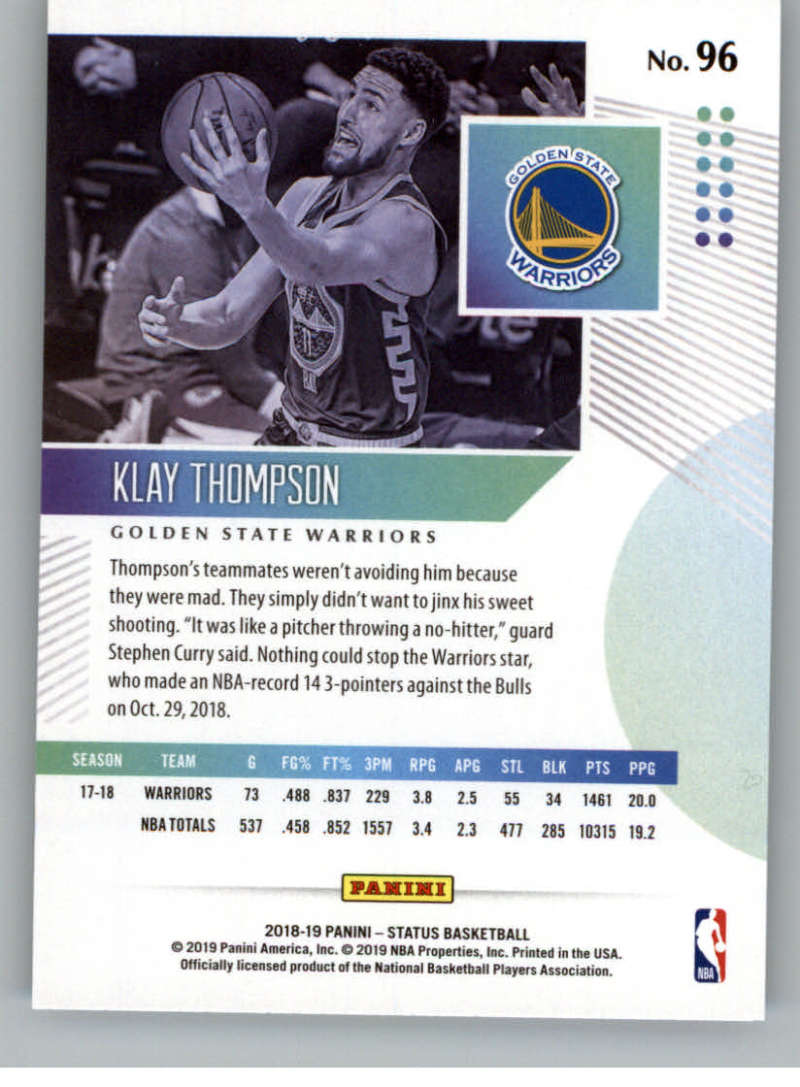 2018-19-Panini-Status-NBA-Basketball-Green-Parallel-Singles-Pick-Your-Cards thumbnail 99