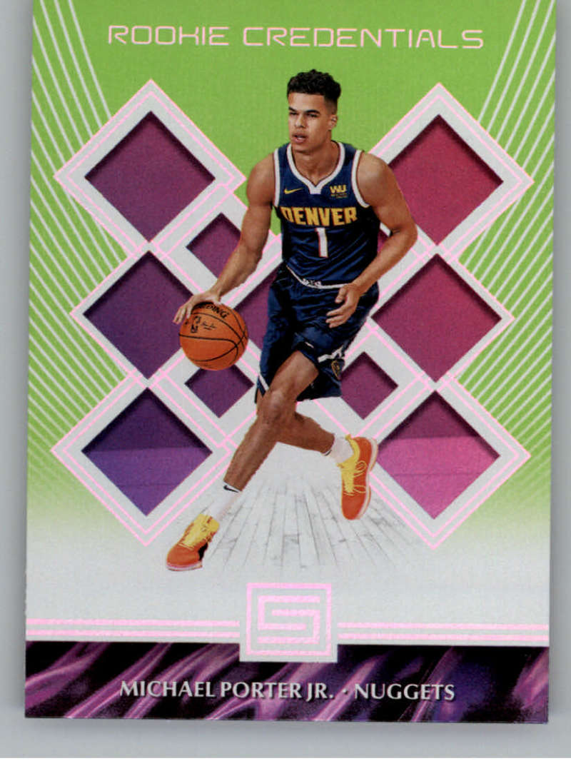 2018-19 Panini Status Rookie Credentials Green