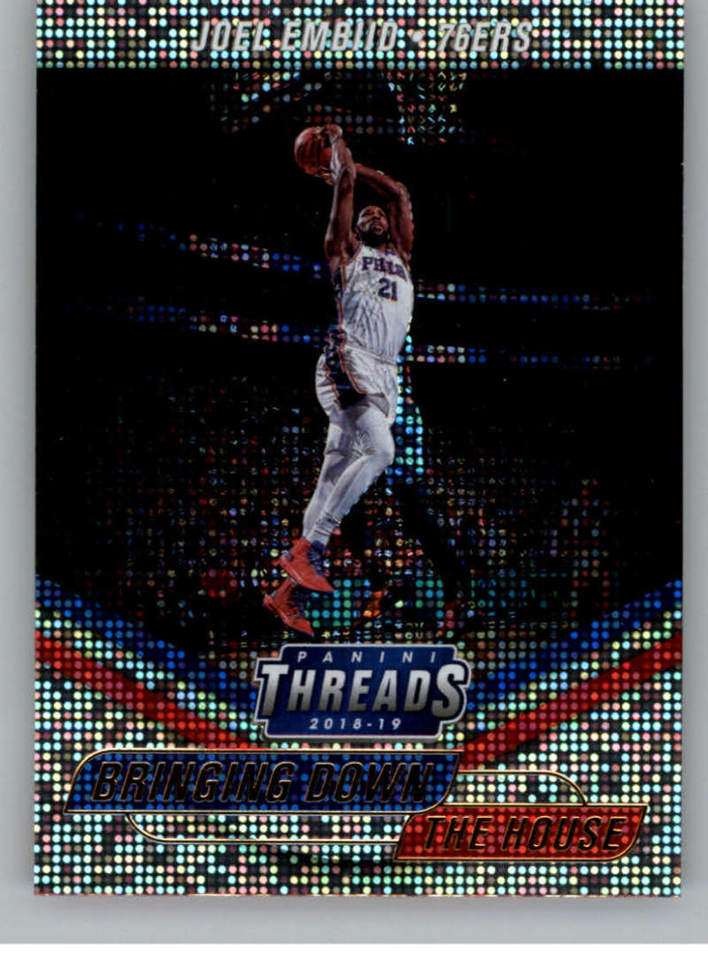 2018-19 Panini Threads Bringing Down the House Dazzle