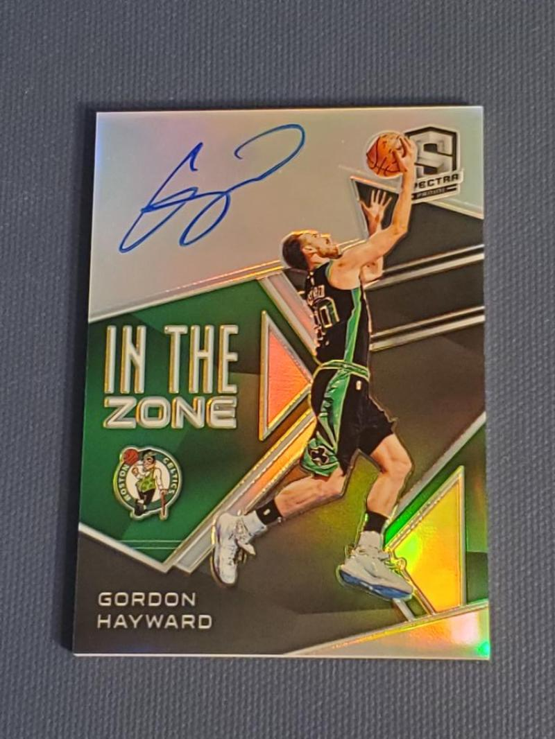 2018-19 Panini Spectra In The Zone Autographs