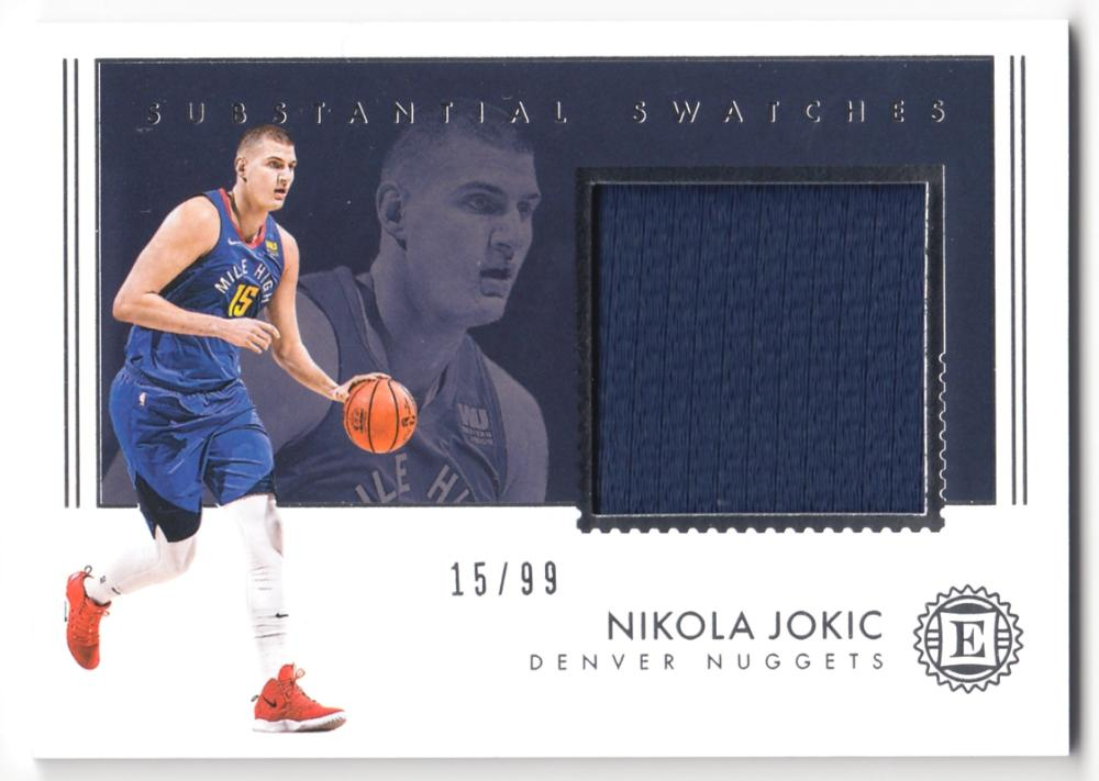 2018-19 Panini Encased Substantial Swatches