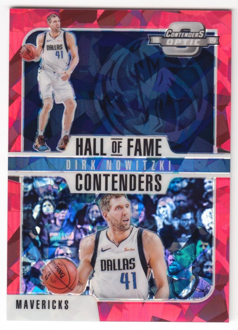 2018-19 Panini Contenders Optic Hall of Fame Contenders Red Cracked Ice