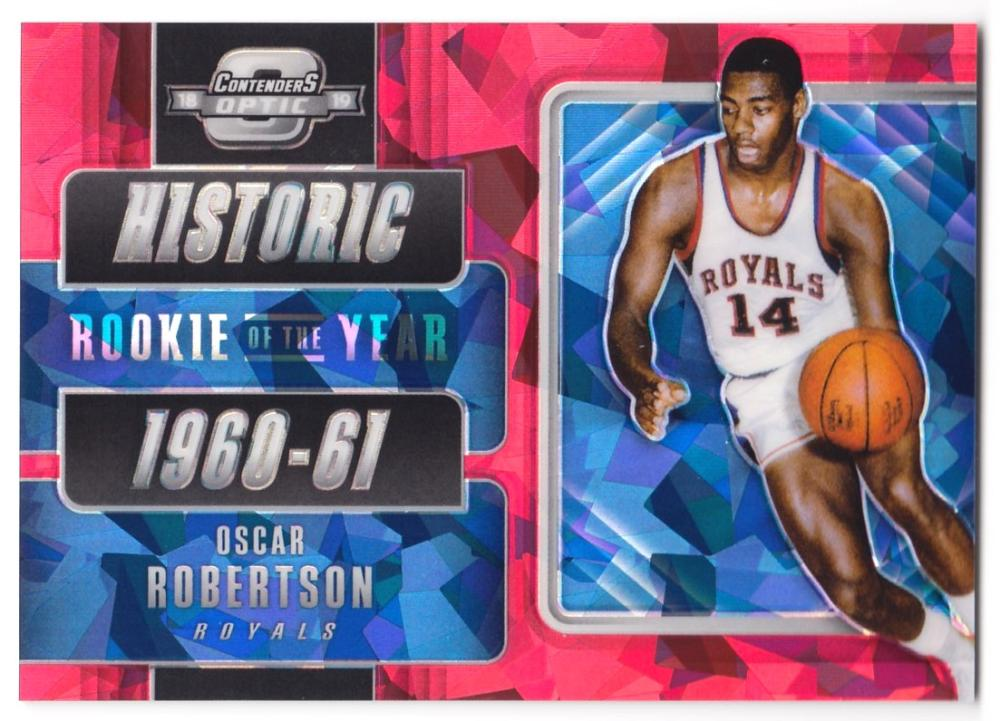 2018-19 Panini Contenders Optic Historic Rookies of the Year Red Cracked Ice