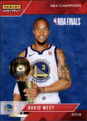2017-18 Panini Instant Golden State Warriors Championship Box Set Basketball #16 David West  2018 NBA Champions Trading Card