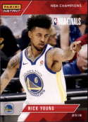 2017-18 Panini Instant Golden State Warriors Championship Box Set Basketball #17 Nick Young  2018 NBA Champions Trading Card