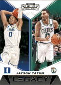 2019-20 Panini Contenders Draft Picks Legacy Basketball #25 Jayson Tatum Boston Celtics/Duke Blue Devils Official NBA Tr