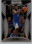 2019-20 Panini Prizm Draft #64 Zion Williamson RC - New Orleans Pelicans / Duke Blue Devils NM-MT NBA (RC - Rookie Card)
