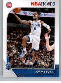 2019-20 Panini Hoops #240 Jordan Bone NM-MT Detroit Pistons