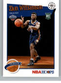 2019-20 Panini Hoops #296 Zion Williamson NM-MT New Orleans Pelicans