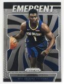 2019-20 Prizm NBA Emergent #7 Zion Williamson New Orleans Pelicans  Official Panini Basketball Trading Card
