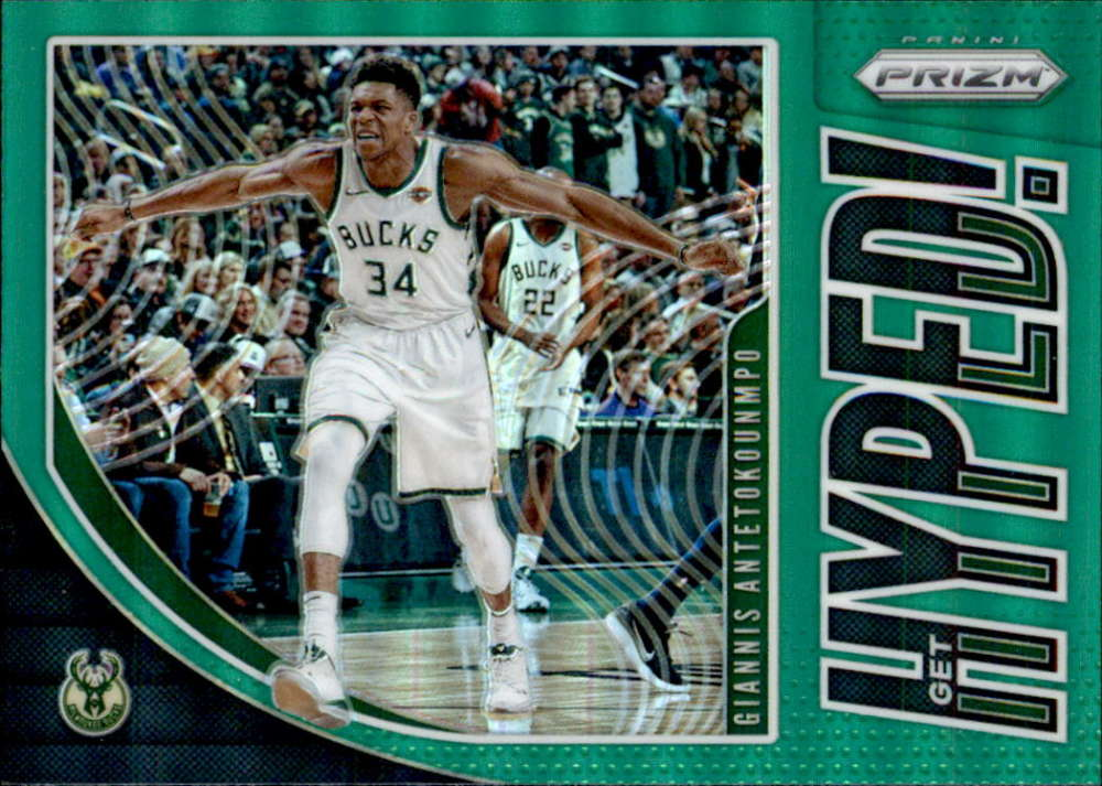 2019-20 Panini Prizm Get Hyped! Prizms Green