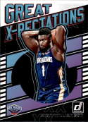 2019-20 Donruss Great X-Pectations Basketball #7 Zion Williamson New Orleans Pelicans Official NBA Trading Card From Pan