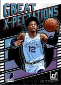 2019-20 Donruss Great X-Pectations Basketball #17 Ja Morant Memphis Grizzlies Official NBA Trading Card From Panini Amer
