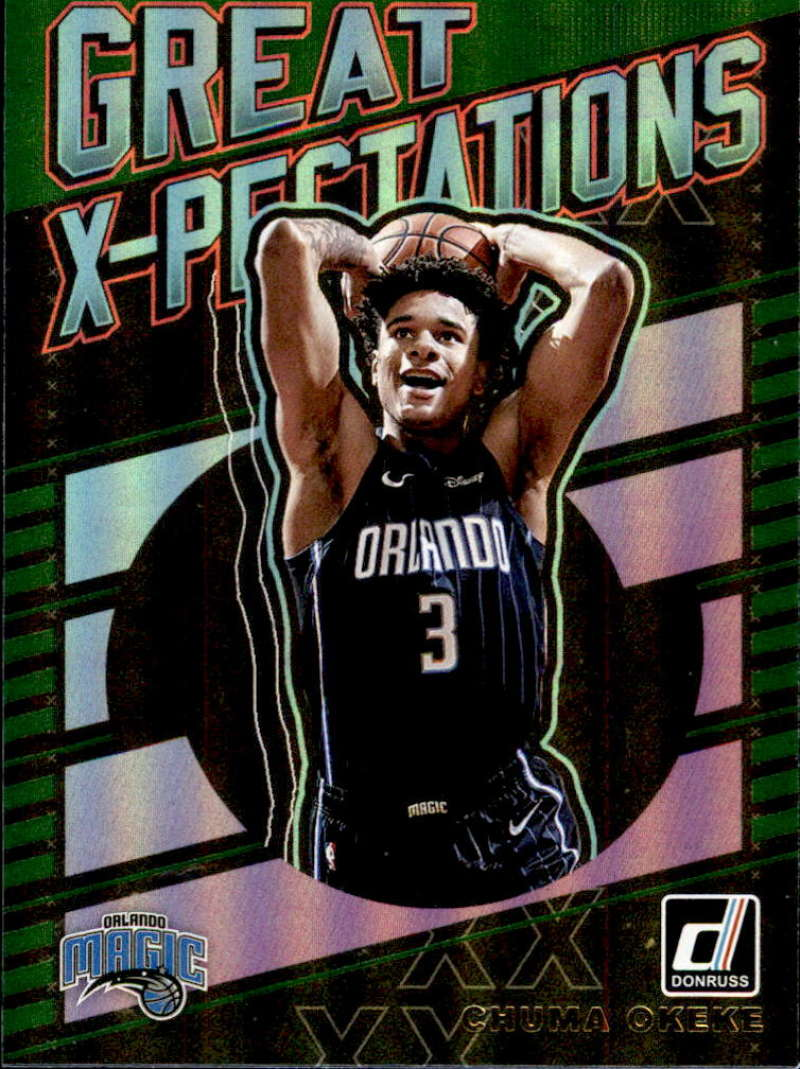 2019-20 Donruss  Great X-Pectations Green Flood