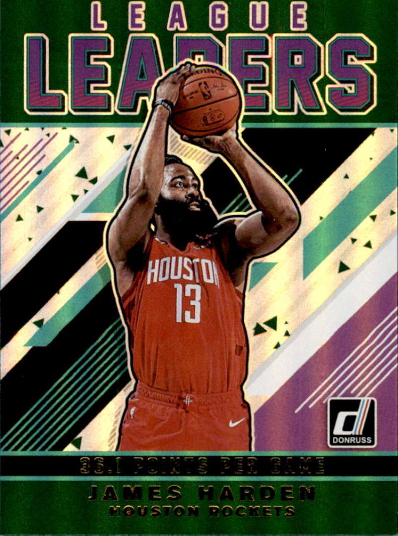2019-20 Donruss  League Leaders Green Flood