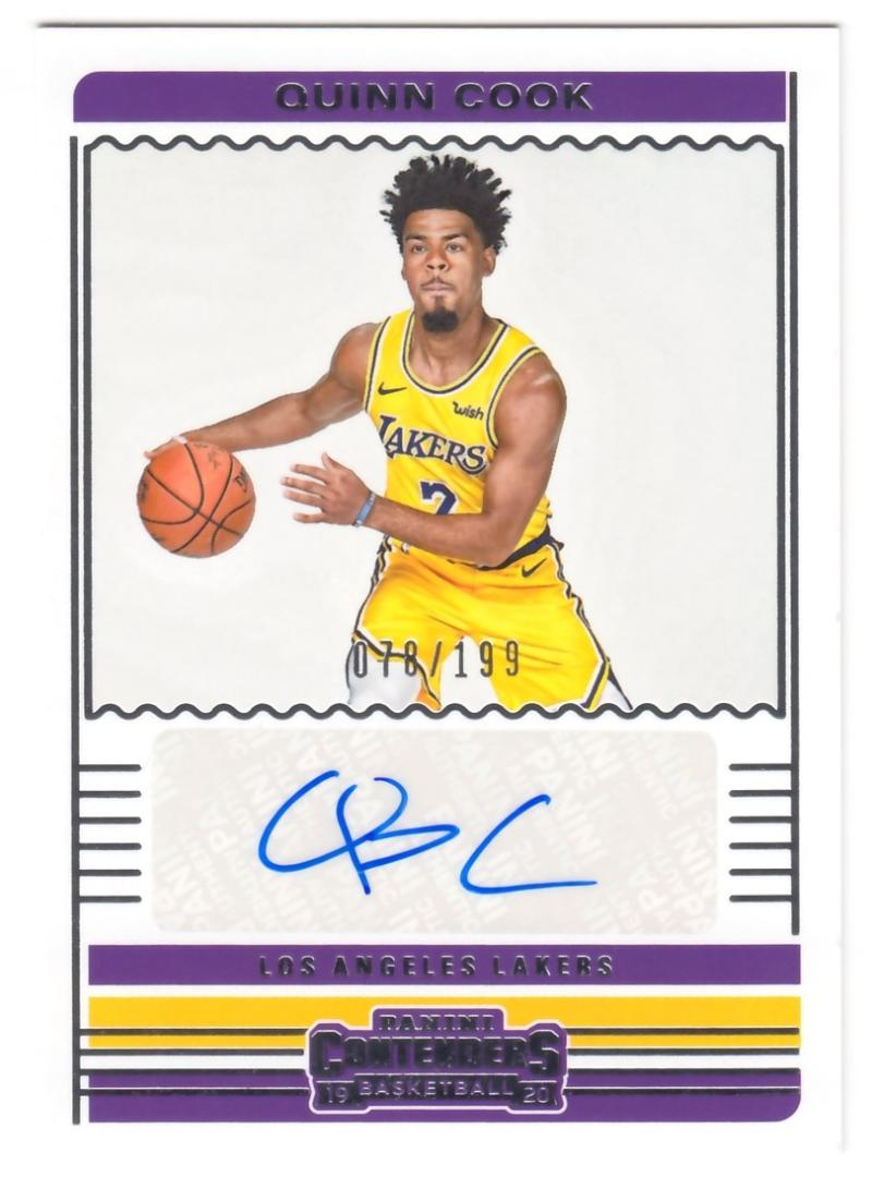 2019-20 Panini Contenders Contenders Autographs