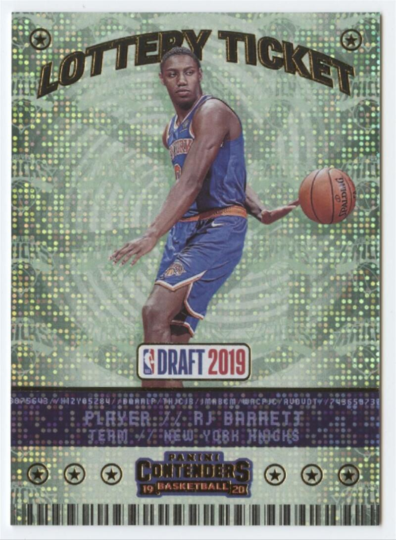 2019-20 Panini Contenders Lottery Ticket