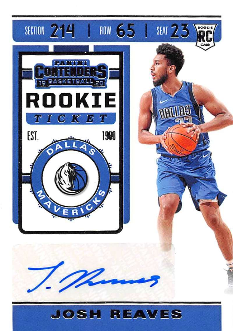 2019-20 Panini Contenders Rookie Season Ticket Stickers